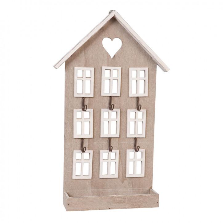 Schlüsselhaken Haus natürlich ca. 22 x 5 x 36 cm