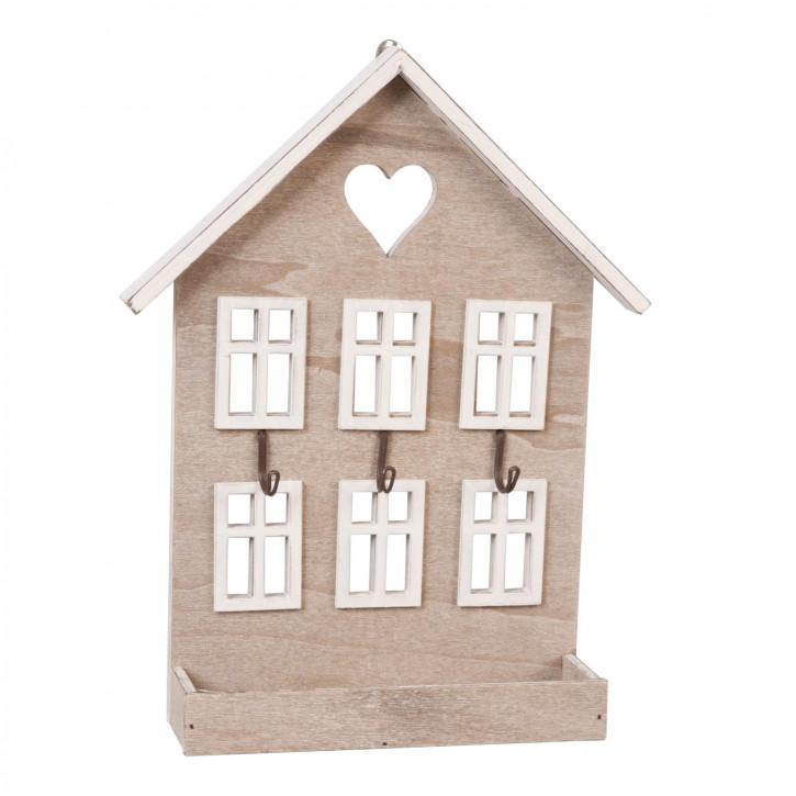 Schlüsselhaken Haus natürlich ca. 22 x 5 x 28 cm