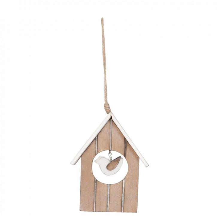 Holzdeko Vogelhaus Vogelhäuschen braun ca. 14 x 2 x 10 cm