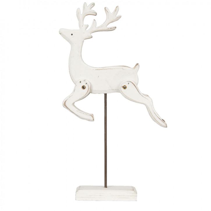 Holzdeko Figur Hirsch natürlich ca. 17 x 4 x 29 cm