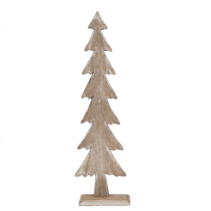 Holzdeko Baum Tanne Tannenbaum braun ca. 8 x 4 x 30 cm