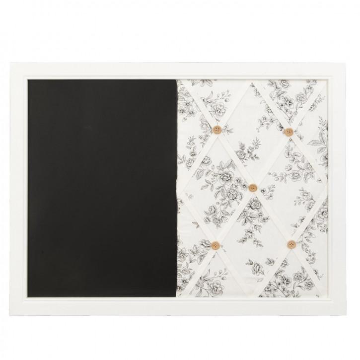 Memoboard Notizbrett Kreidetafel schwarz/weiß ca. 60 x 44 cm