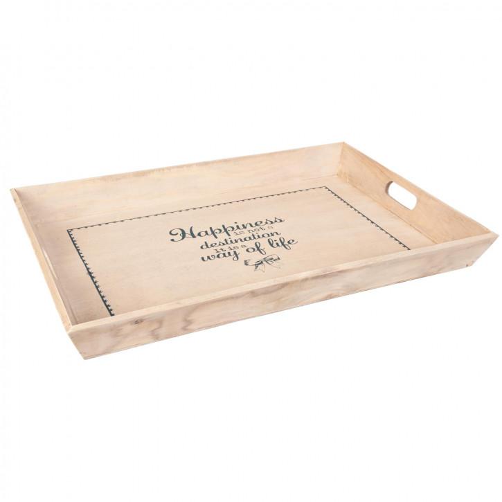 Tablett Holztablett natürlich ca. 60 x 40 x 6 cm