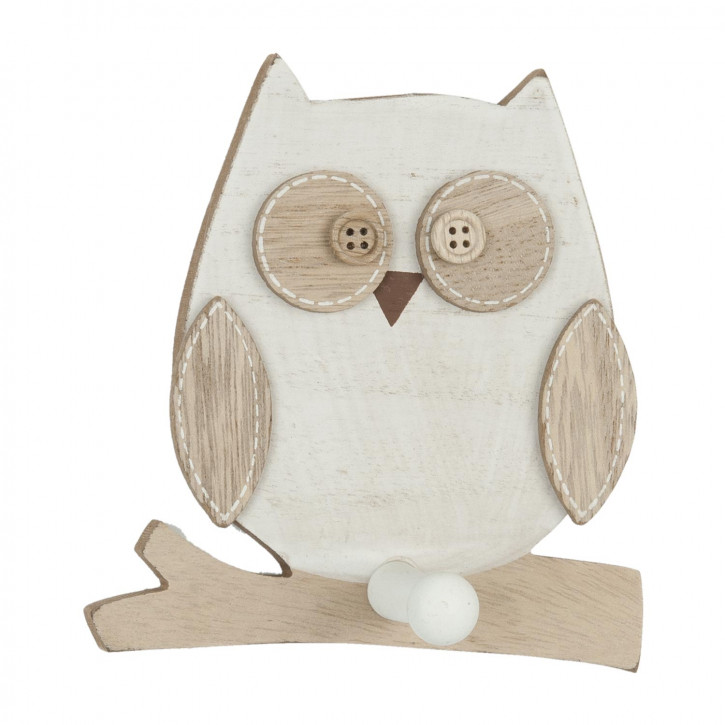 Decoration owl 12x12x5 cm