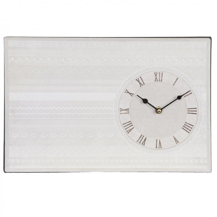 Wanduhr Weiß 37,5 x 25 cm