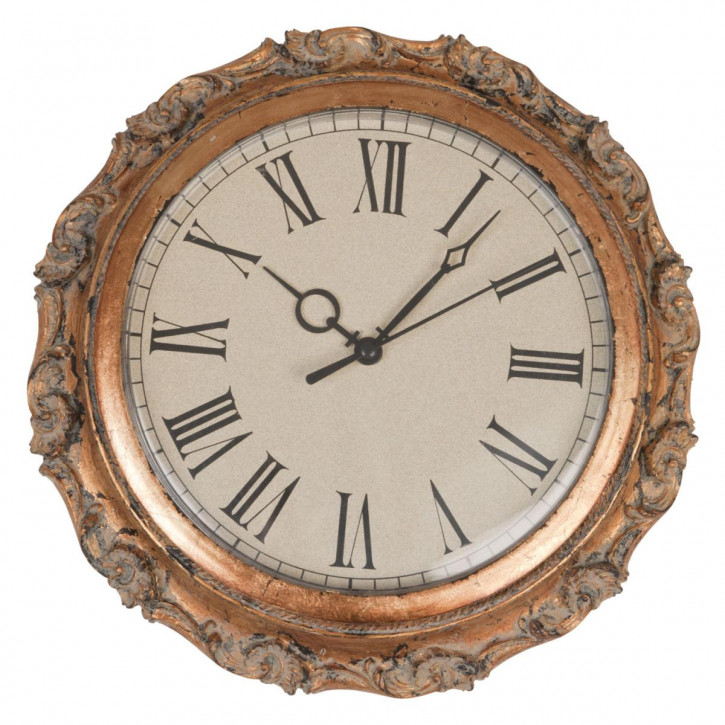 Uhr mit Holzrahmen Ø 25 cm