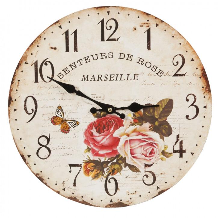 Uhr Wanduhr ca. Ø 34 cm