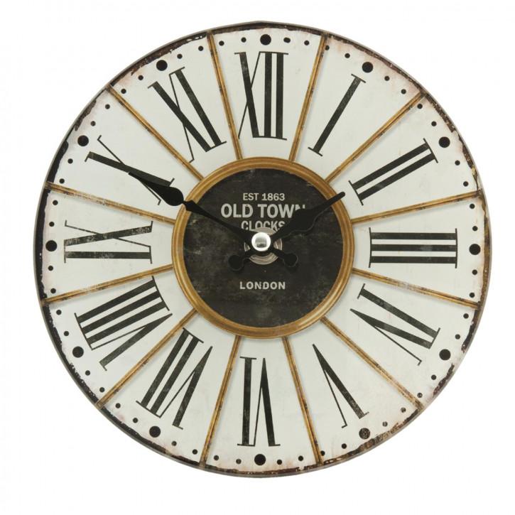 Wanduhr Old Town Uhr 17x4 cm