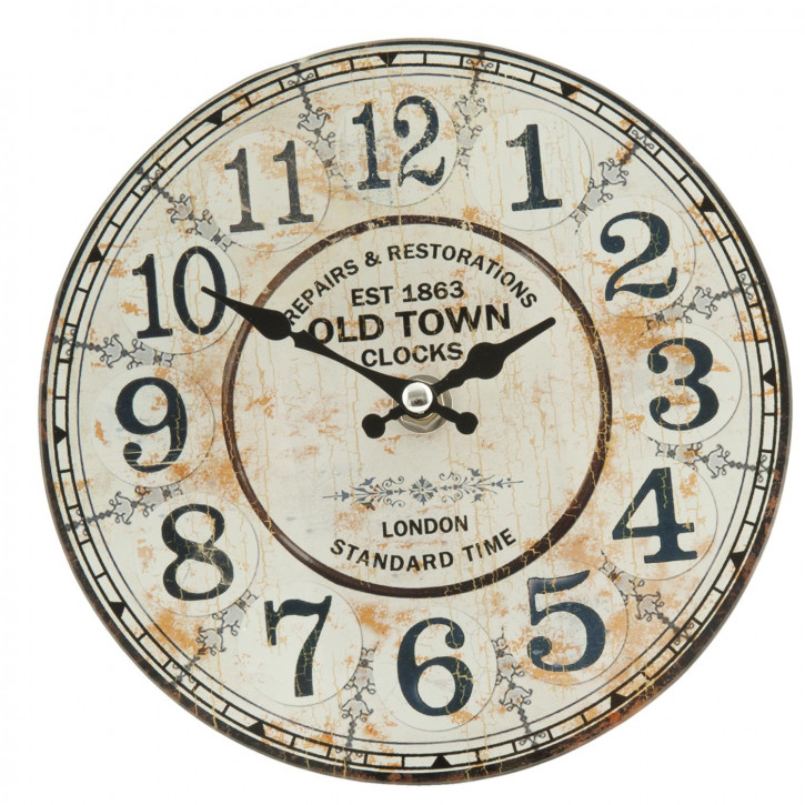 Wanduhr Old Town 17x4 cm