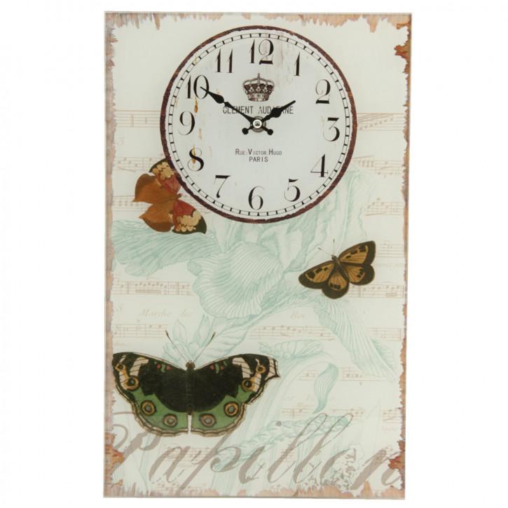 Wanduhr Schmetterlinge 25x4x40 cm