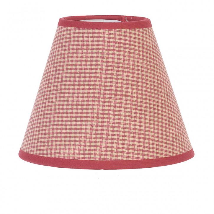 Zauberhafte Lampenschirm * Rund-rot/beige karo * von