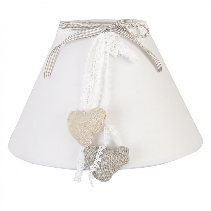 Lampenschirm Natürlich Herzen ca. Ø 25 cm