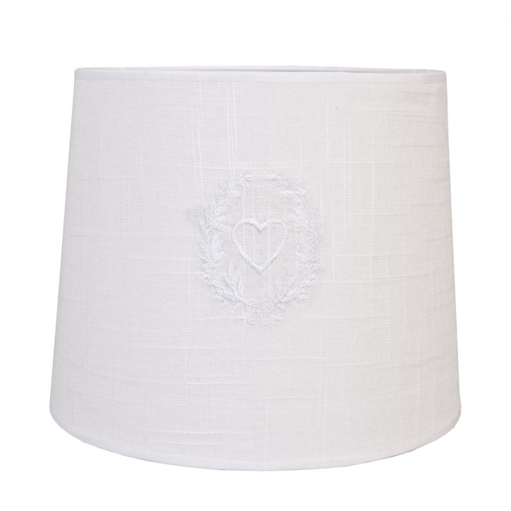 Lampenschirm Weiß ca. Ø 26 x 21 cm E27