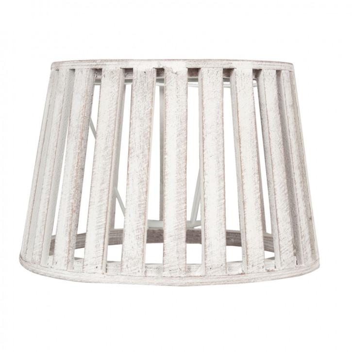 Lampenschirm Holz weiß ca. Ø 25 x 17 cm / E27