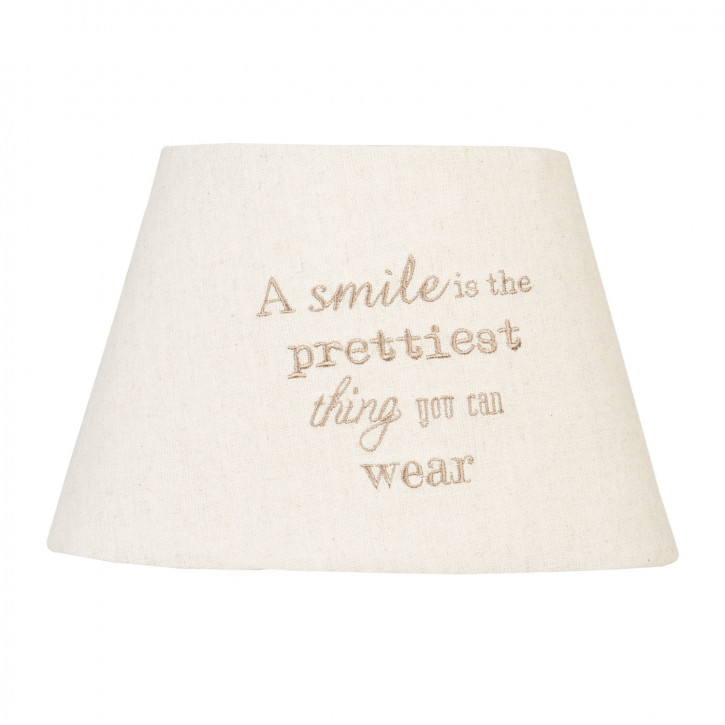 Lampenschirm A smile is the prettiest thing you can wear ca. 25 x 20 x 12 cm / E27
