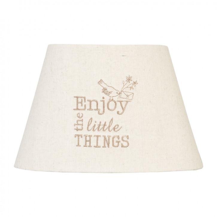 Lampenschirm Enjoy the little things ca. 25 x 20 x 12 cm / E27