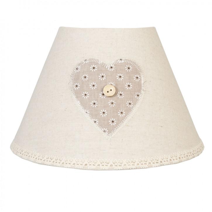 Lampenschirm Herz natürlich ca. Ø 22 x 14 cm / E27