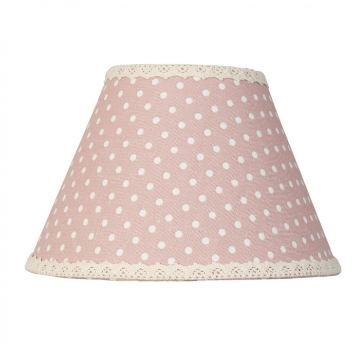 Lampenschirm rosa Punkte ca. Ø 22 x 14 cm E27