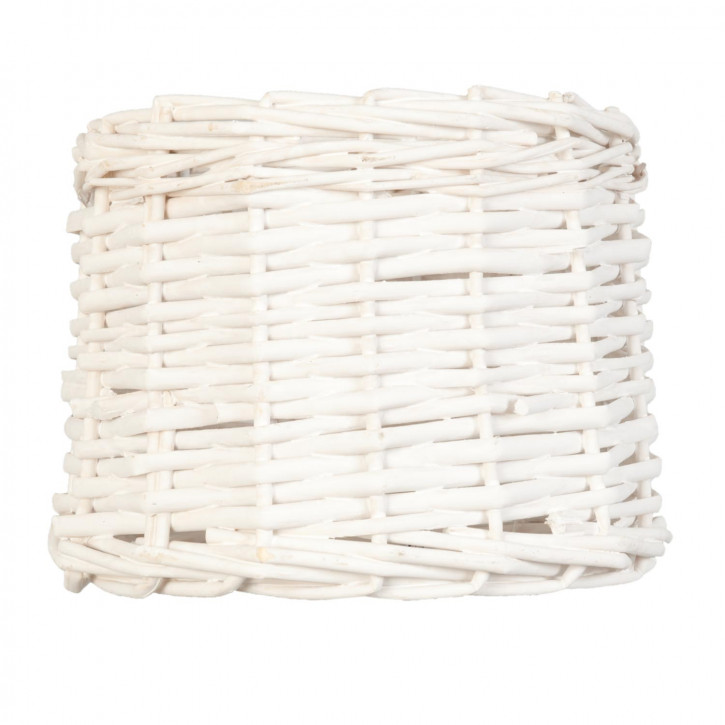 Lampenschirm Rattan weiß ca. Ø 20 x 15 cm E27