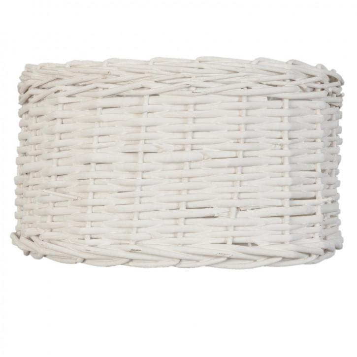 Lampenschirm Rattan weiß ca. 30 x 25 x 18 cm E27