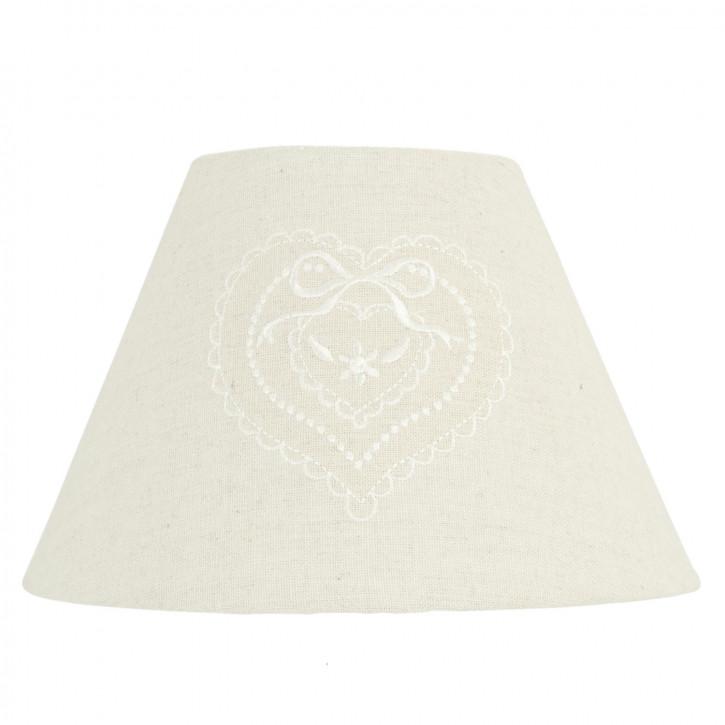 Lampenschirm weiß 23x15 cm / E27