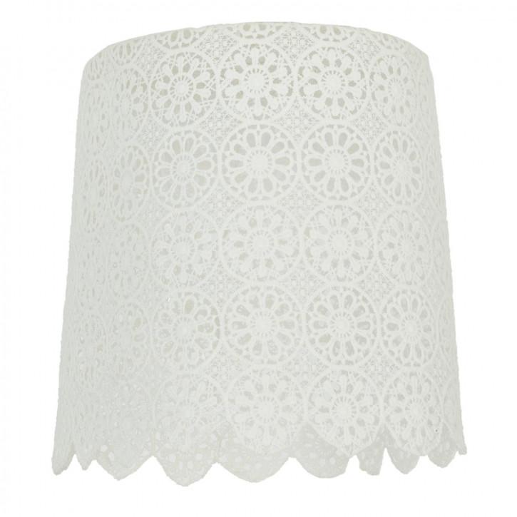 Lampenschirm weiß Spitze 29x30 cm / E27