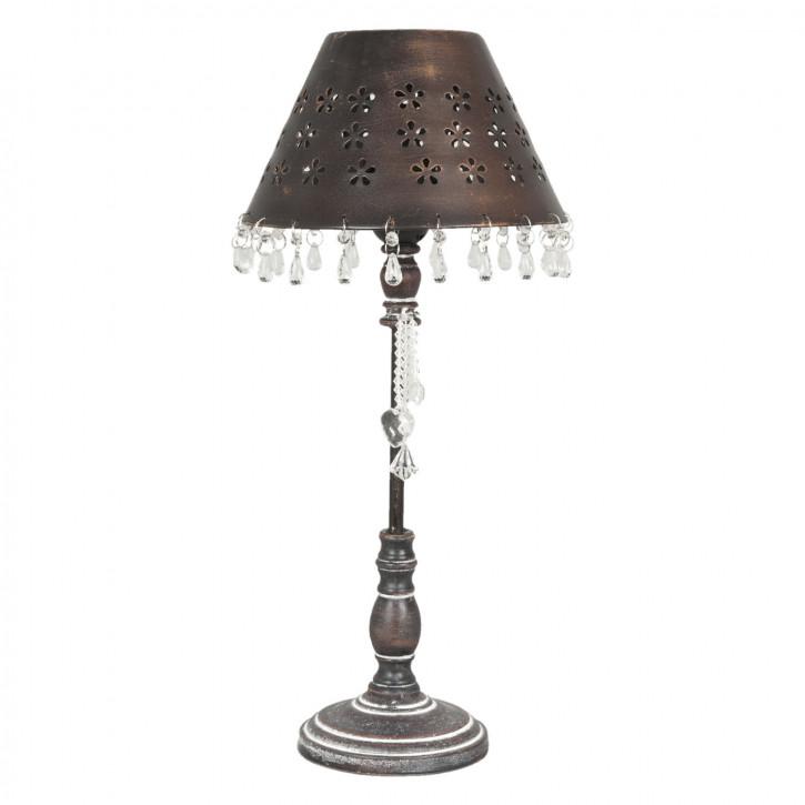 Tischlampe komplett braun ca. Ø 21 x 45 cm
