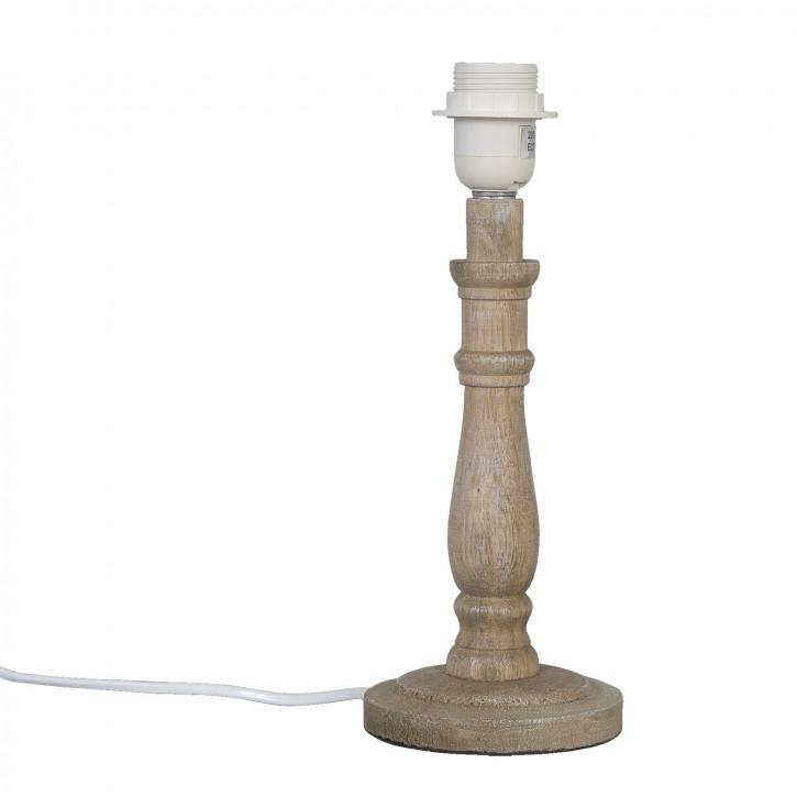 Lampe Holz Braun (OHNE SCHIRM) ca. Ø 12 x 31 cm
