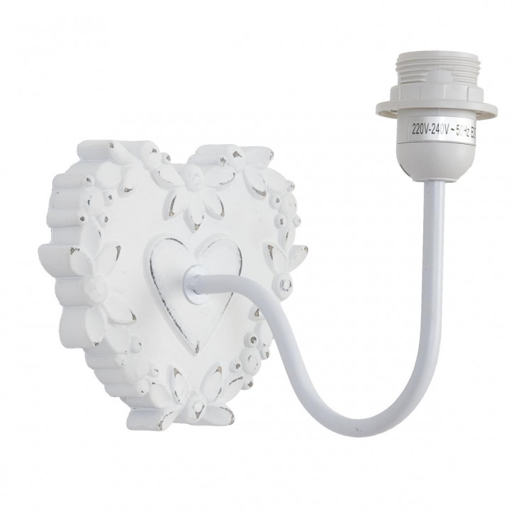 Herzförmige Wandlampe
