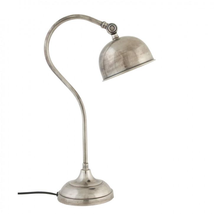 Geschwungene Bürolampe silber