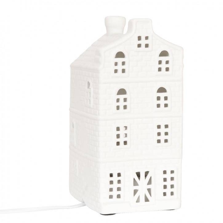 Tischlampe weißes Haus