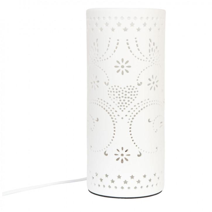 Tischlampe weiße Säule Ø12
