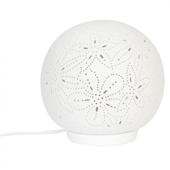 Weiße Kugel Tischlampe Ø20cm