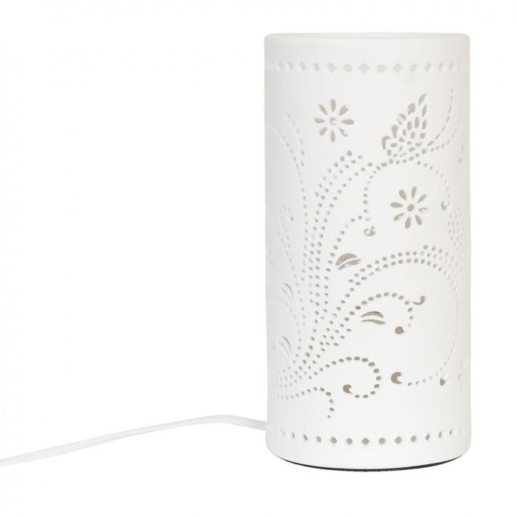 Tischlampe Säule, weiß Ø12