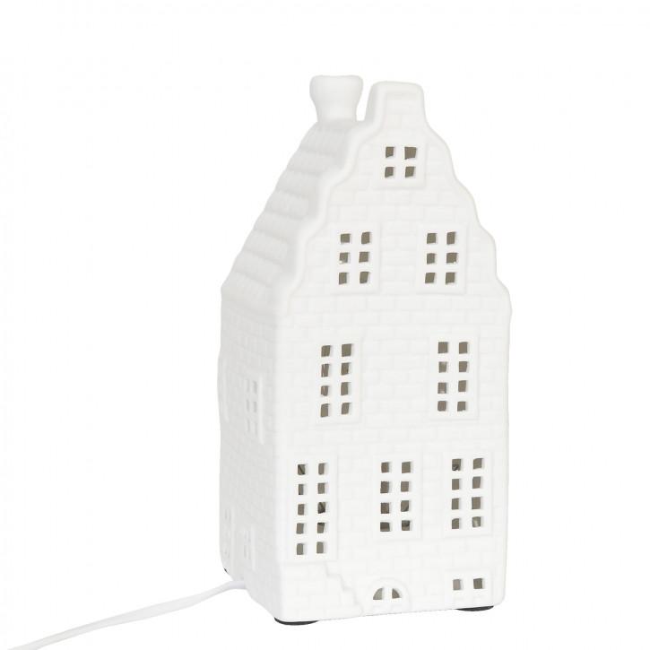 Tischlampe mit Hausmotiv