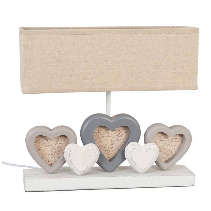 Süße Tischlampe mit Herzchen