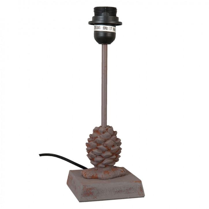 Tischlampe Lampenfuss Tannenzapfen Grau/Braun ca. 11 x 11 x 31 cm E27 Max. 60W