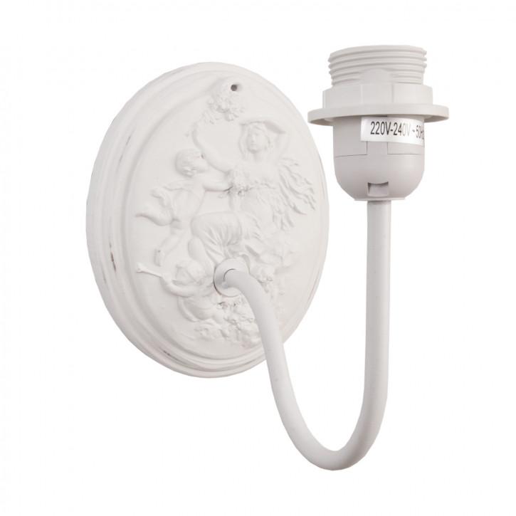 Wandlampe Weiß ca. 20 x 32 x 26 cm E27 Max. 60W