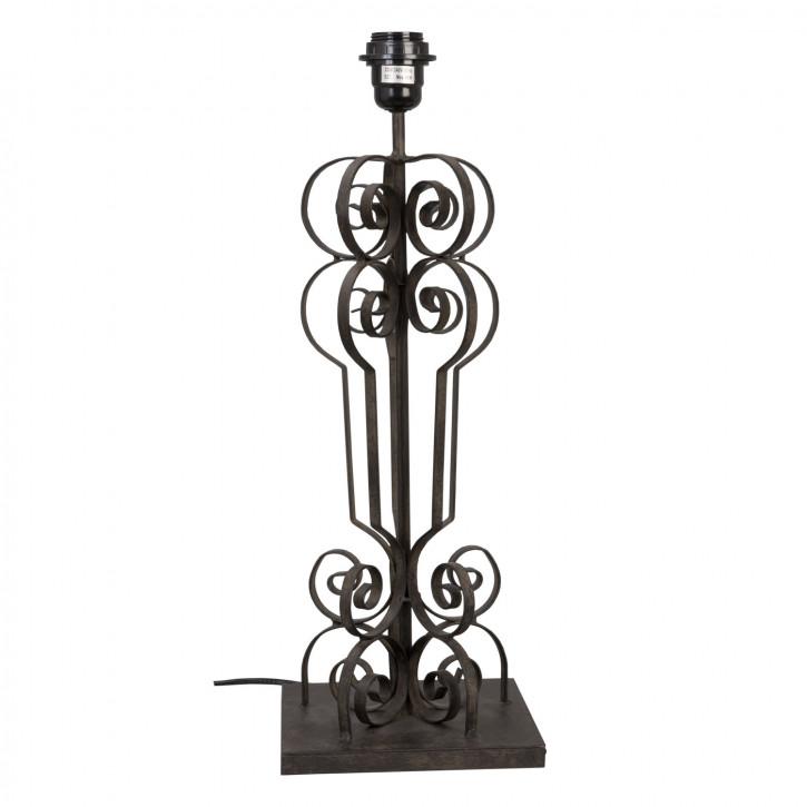 Formvollendete Tischlampe schwarz