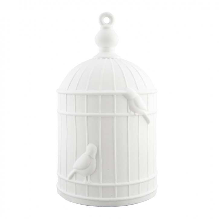 Tischlampe Vogelkäfig weiß ca. 16 x 16 x 28 cm E27 Max. 60W