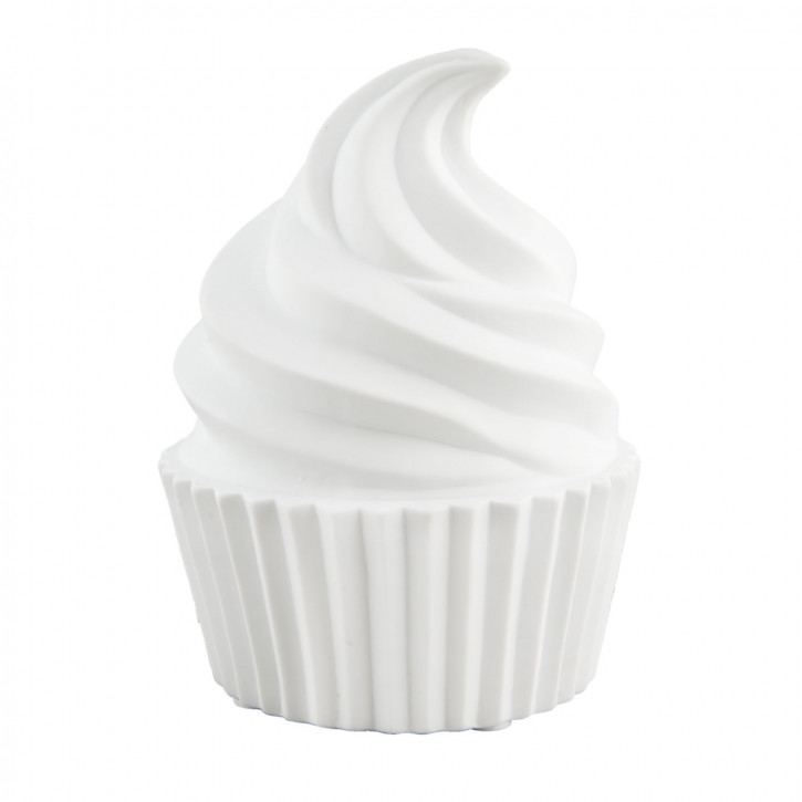 Tischlampe Muffin weiß ca. 15 x 15 x 20 cm E27 Max. 60W