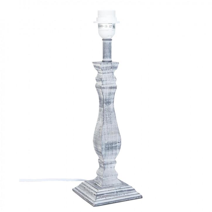 Lampenfuß aus Holz 12x12x42 cm / E27/60W