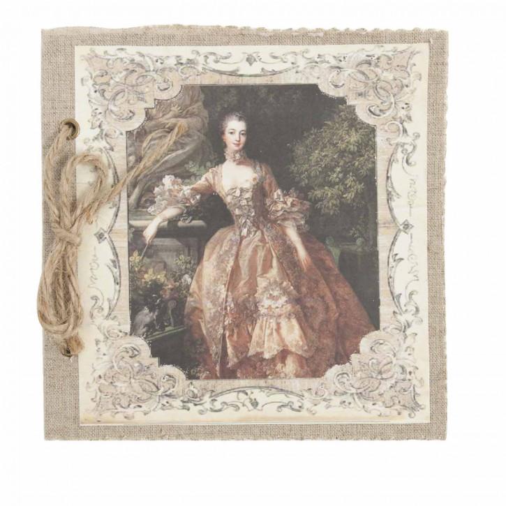 Notizbuch Dame im roten Kleid