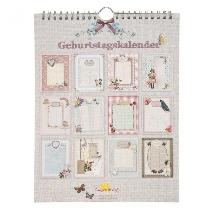 Geburtstagskalender, in deutsch