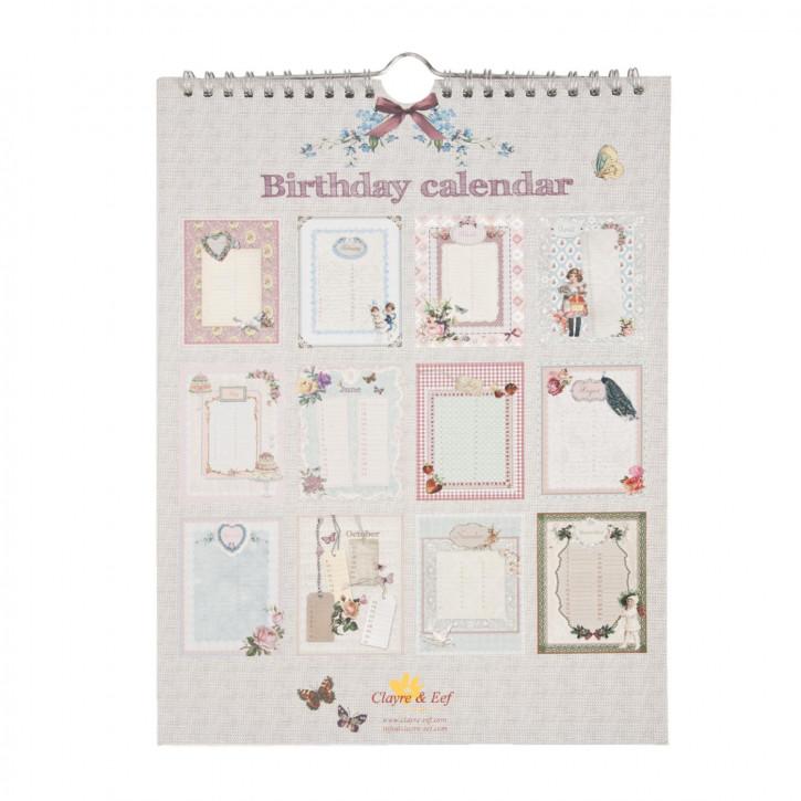 Geburtstagskalender, in englisch