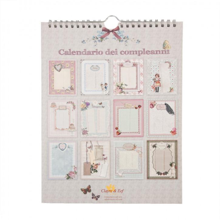 Geburtstagskalender, in italienisch