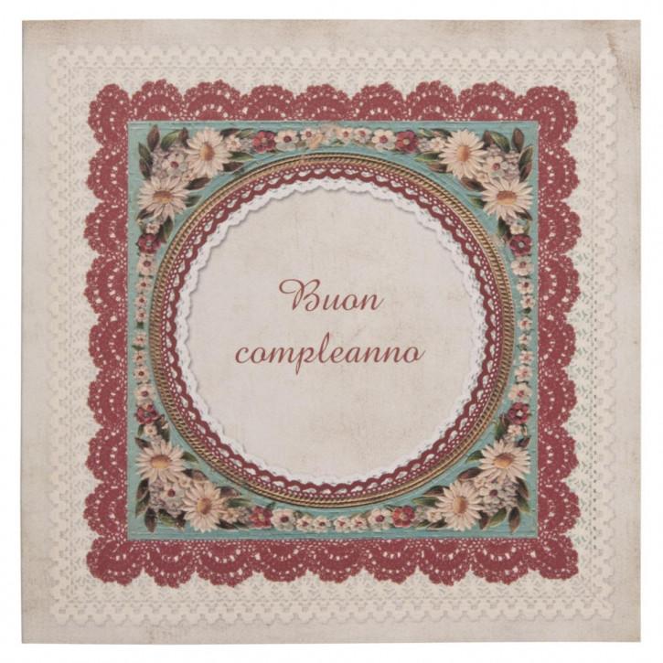 Postkarte (Buon compleanno) 13.5x13.5 cm
