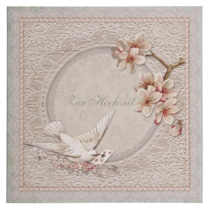 Postkarte (Zur Hochzeit) 13.5x13.5 cm