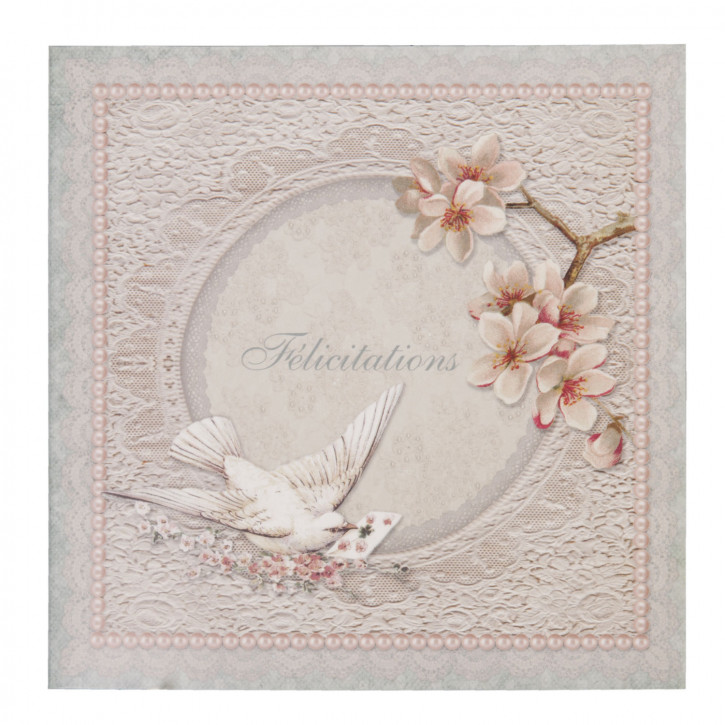Postkarte (F?licitations) 13.5x13.5 cm