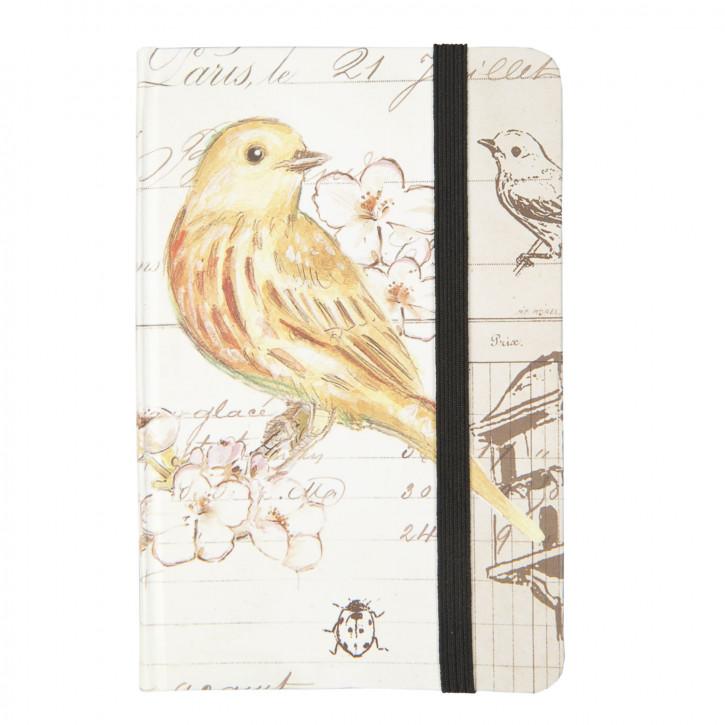 Notizbuch Vogel Kanarienvogel ca. 9 x 14 cm (100 Seiten)